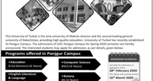 University of turbat admission