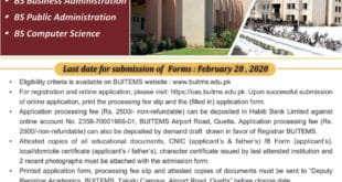 BUITEMS Admission 2020